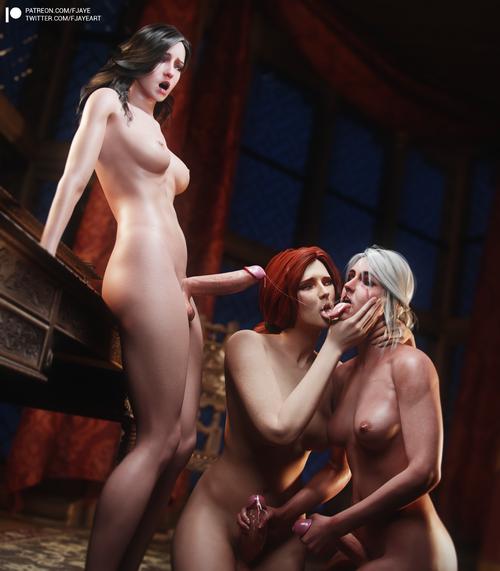 Witcher 3 - Futa Treesome