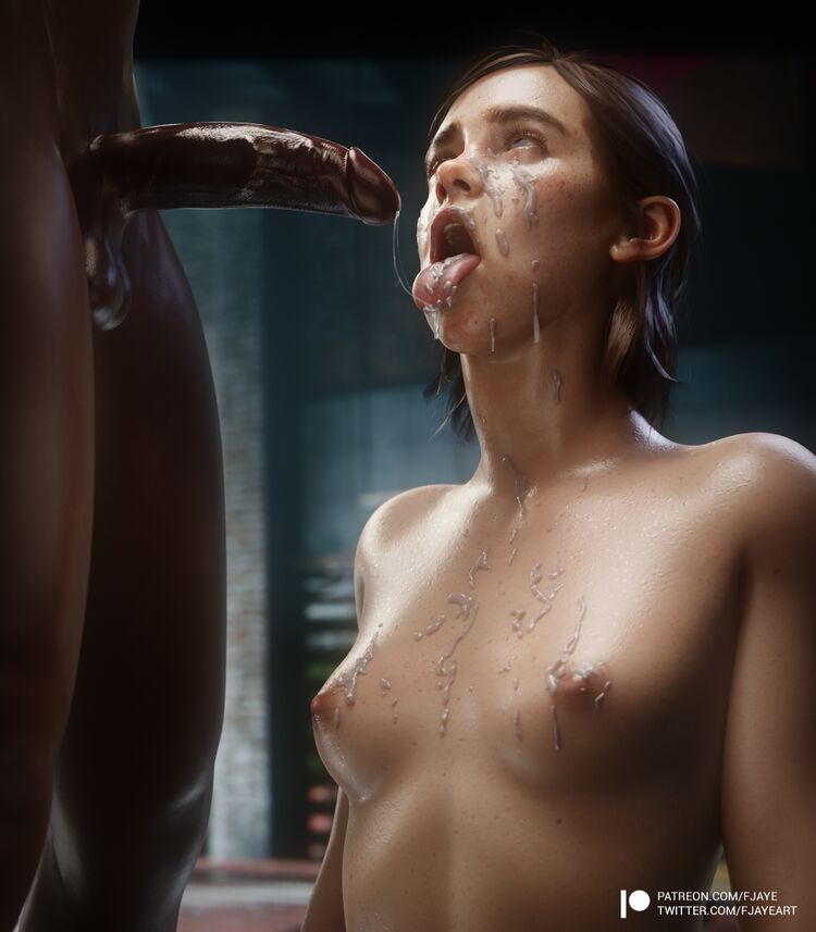 TLOU2 - Ellie covered in nut