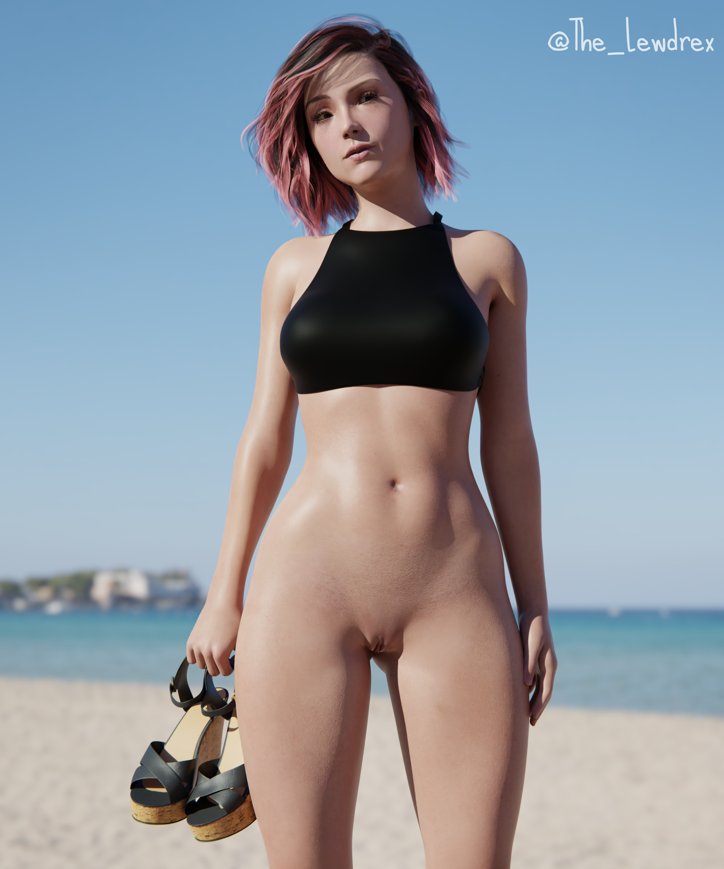 Alana At The Nudist Beach!