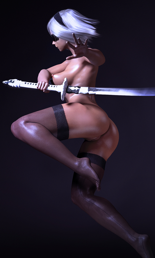 Main weapon of 2B is ready for battle!