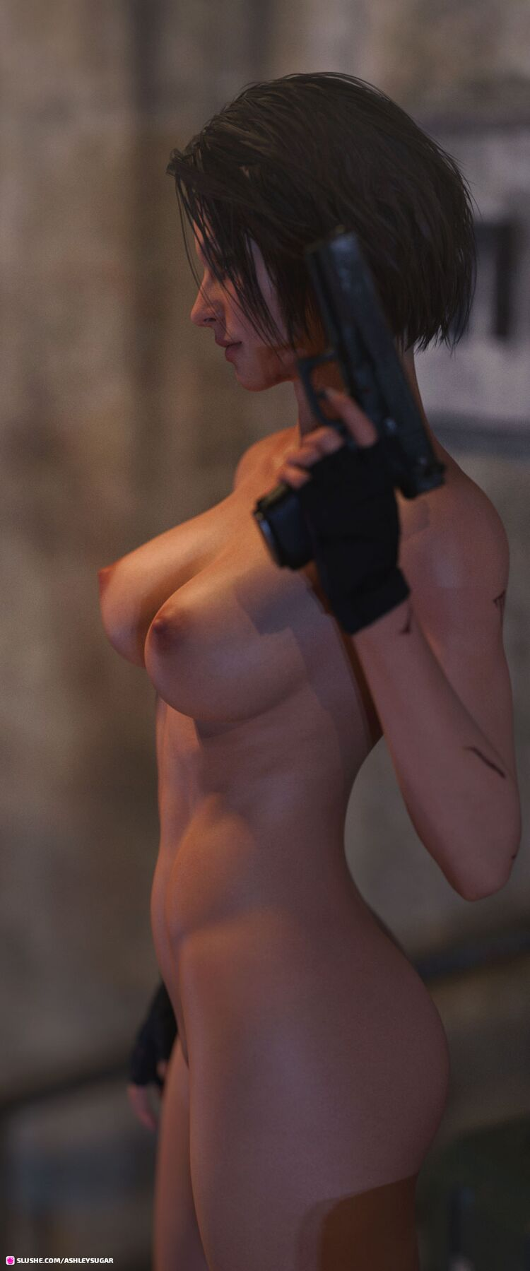 Fight scenes from upcoming story with Jill Valentine.