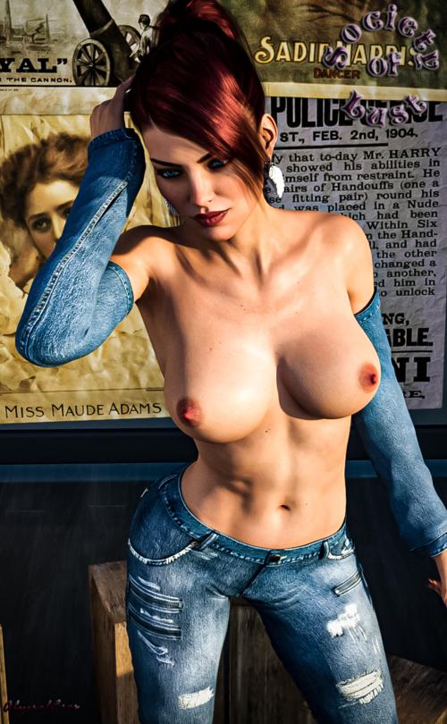 Laura - Denim Beauty II.4 (Nude Version)