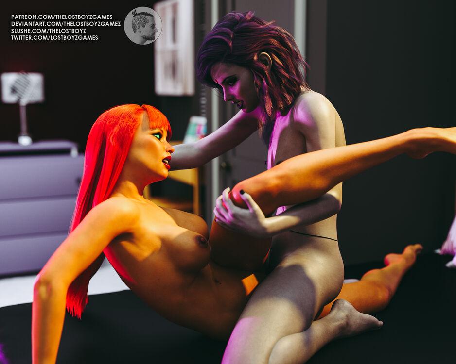 Raven and Starfire Tribbing