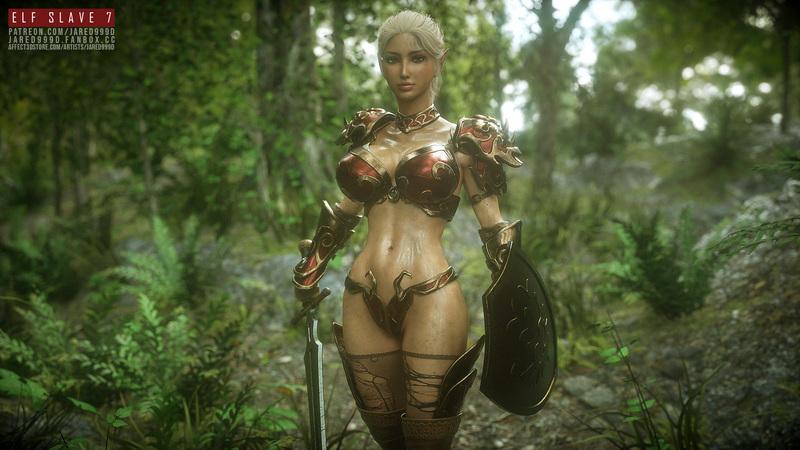 Elf Slave 7, concept 2