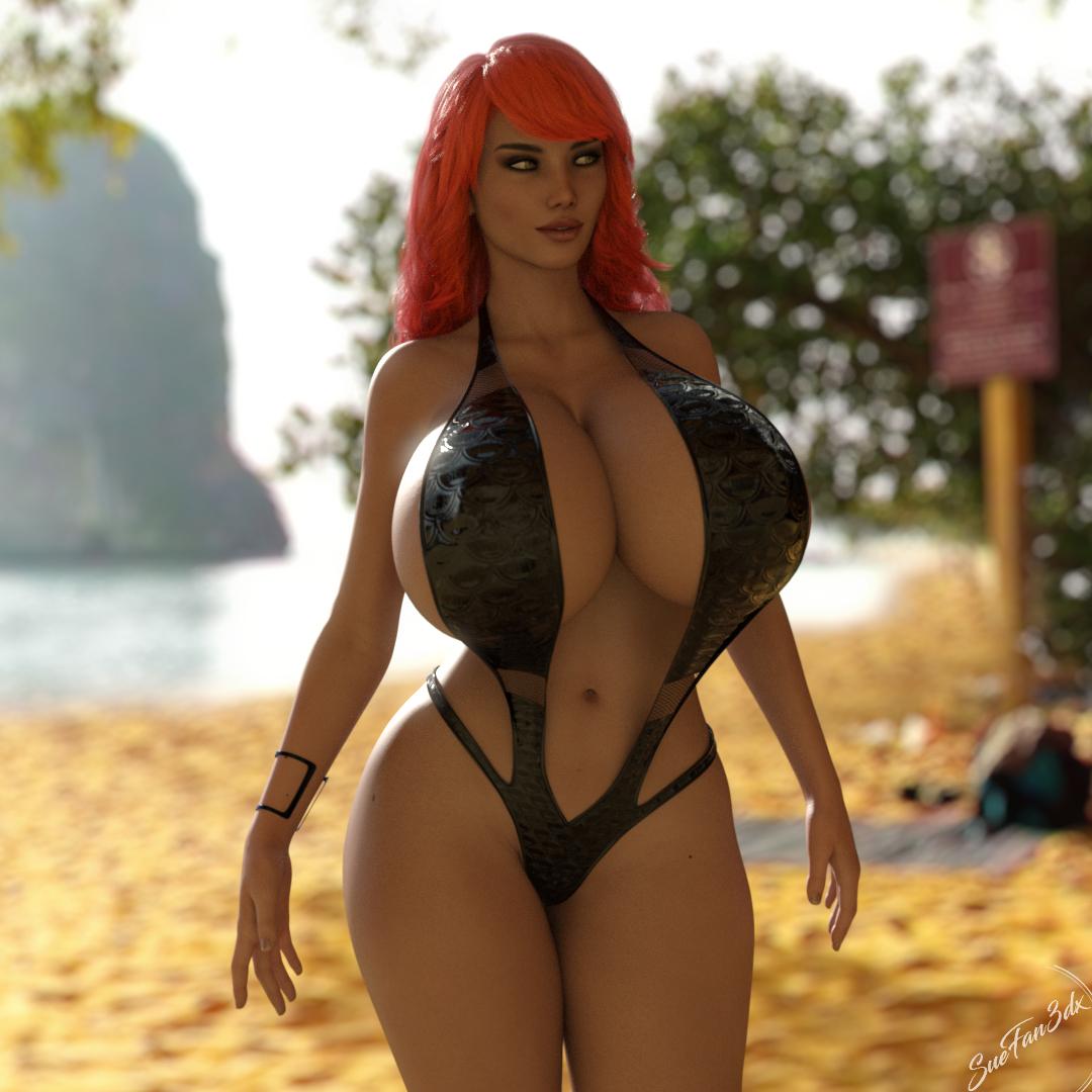 Carli on a beach