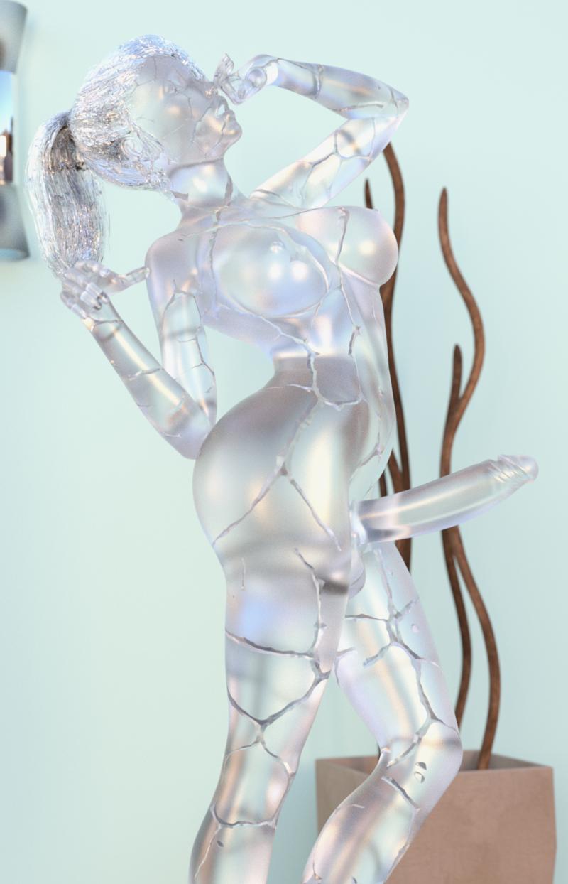 Futa Ice Statue