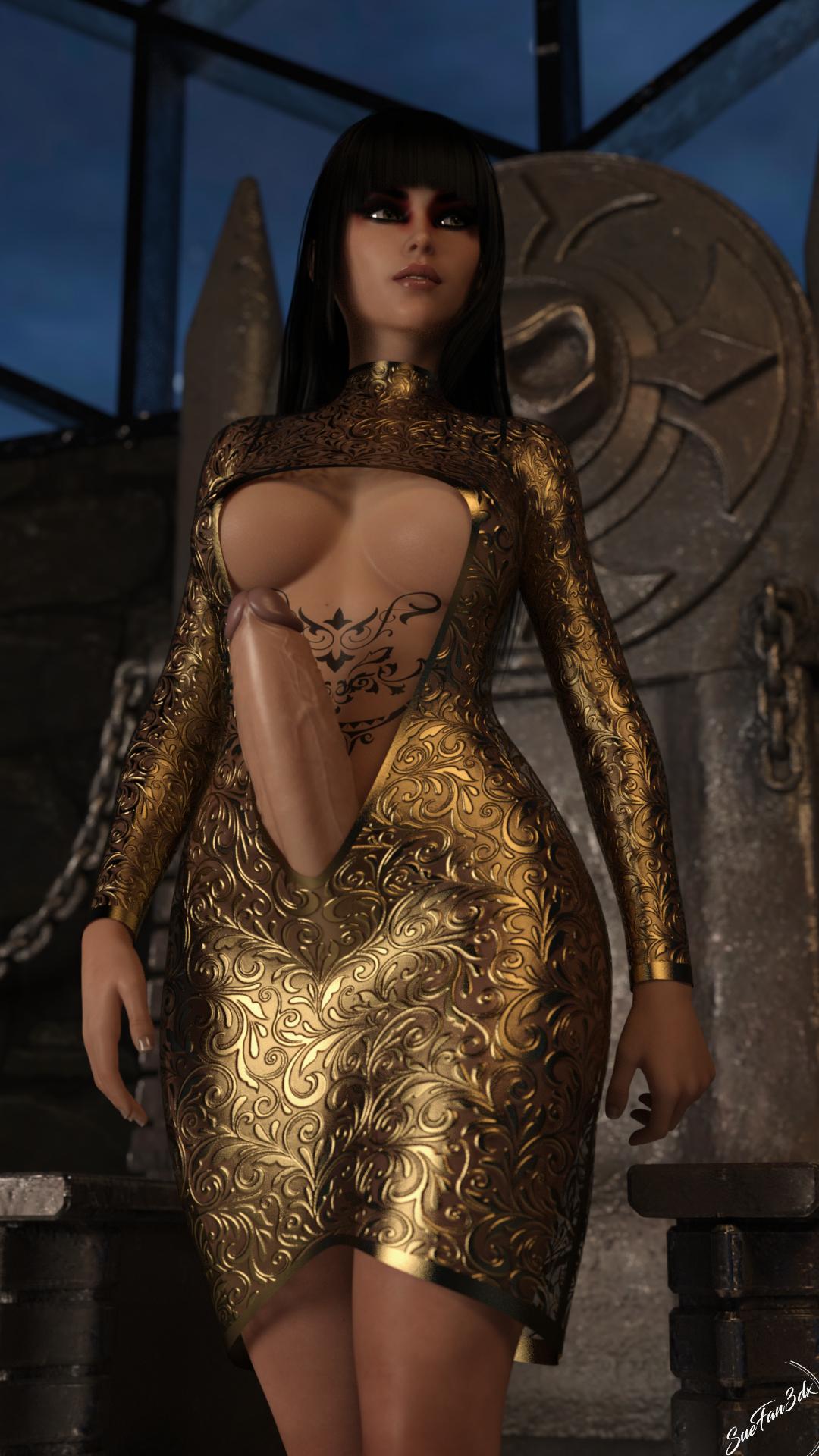 Mia in a dress