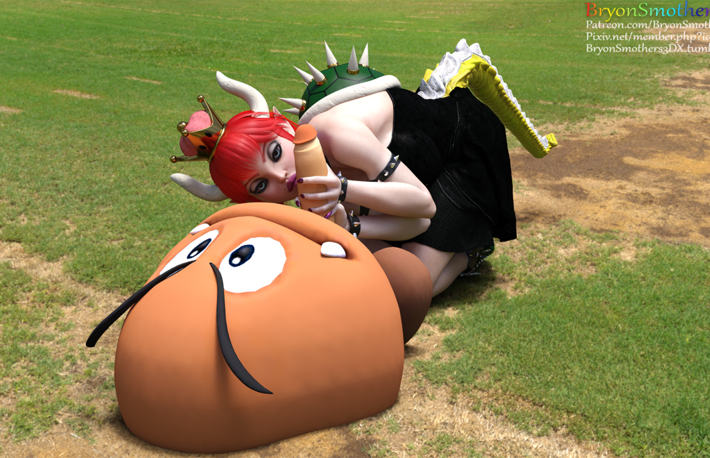 Bowsette And Goomba
