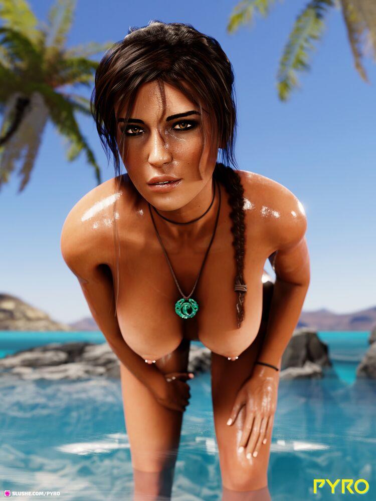 Lara enjoying some beach time