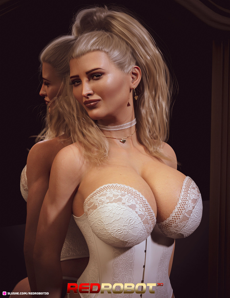 White Lingerie Bust out