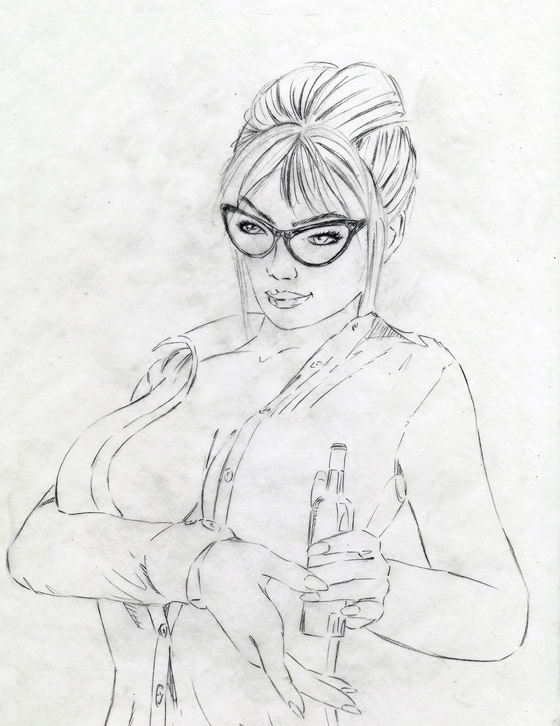 Sexy Librarian commission