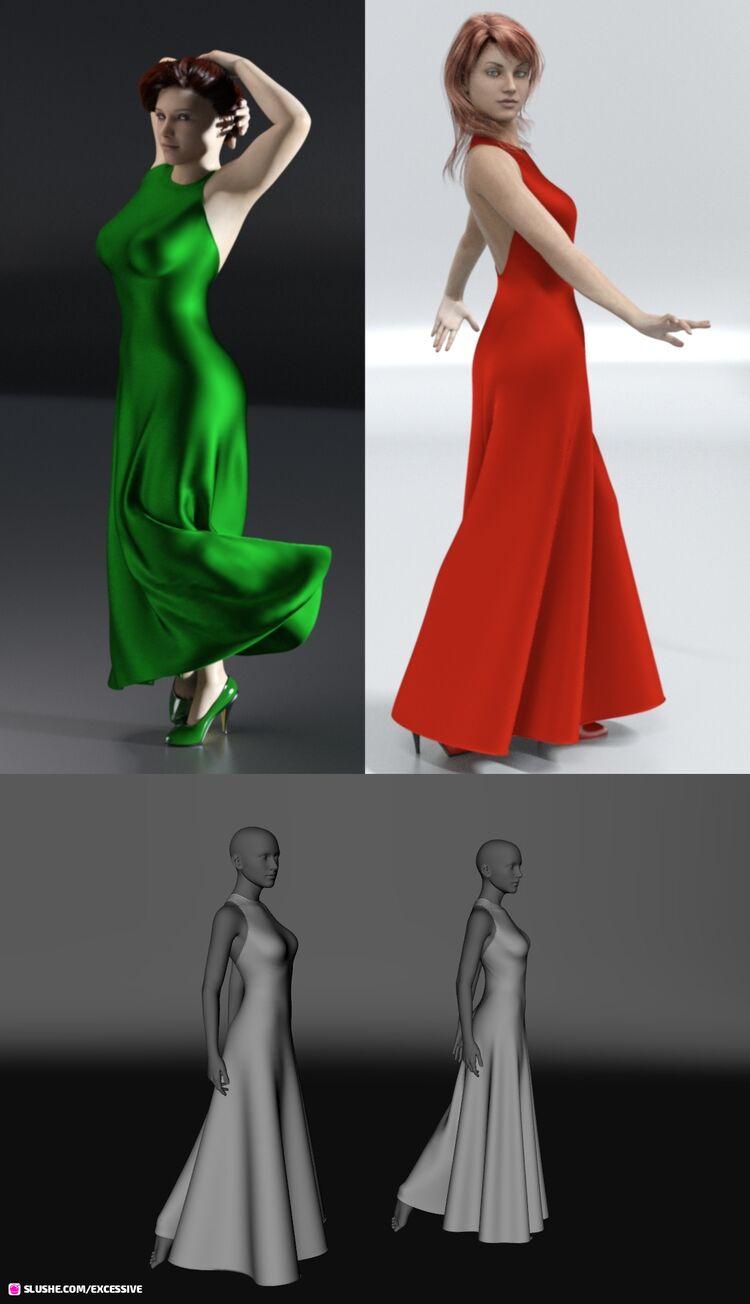 Ankle Length Halter dForce Dress G8F Freebie