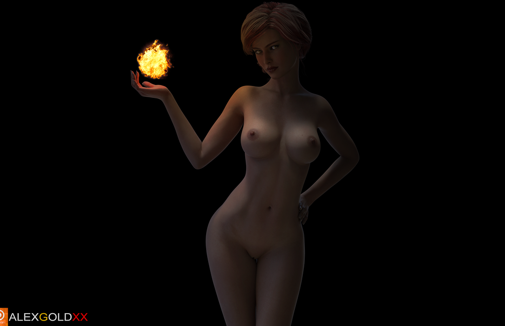 Triss with fireball