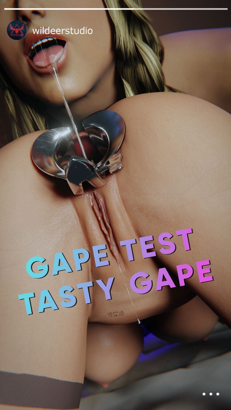BTS Lara gape test with new toy