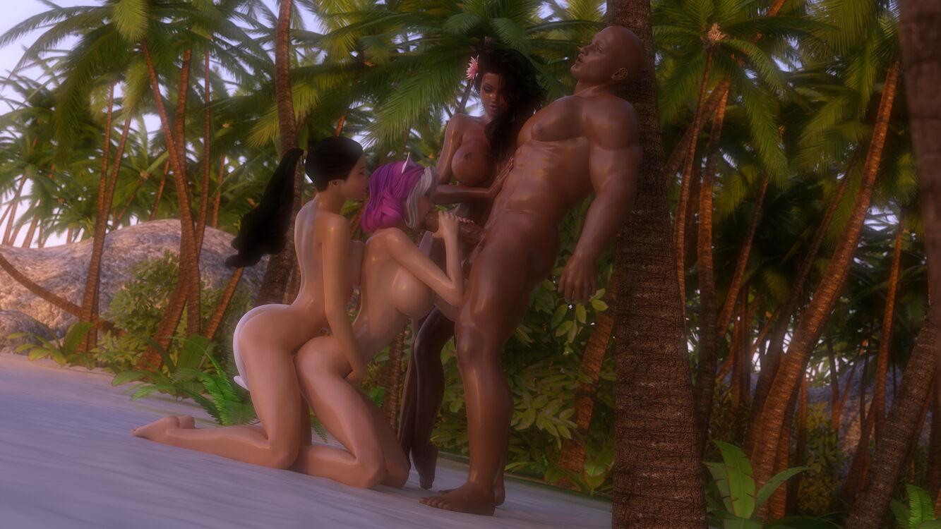 Felina, Mika, and Shayna - Tropical Fruits