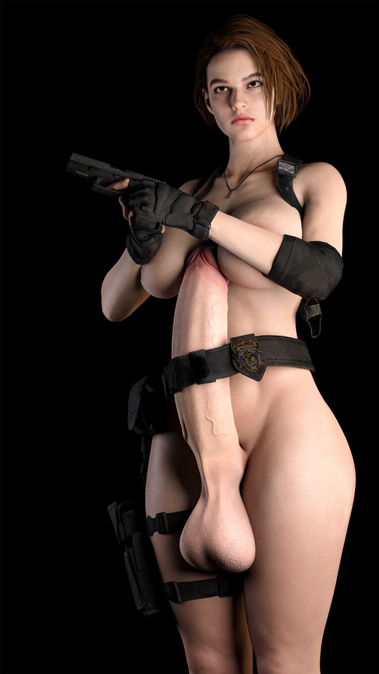Jill with 2 guns