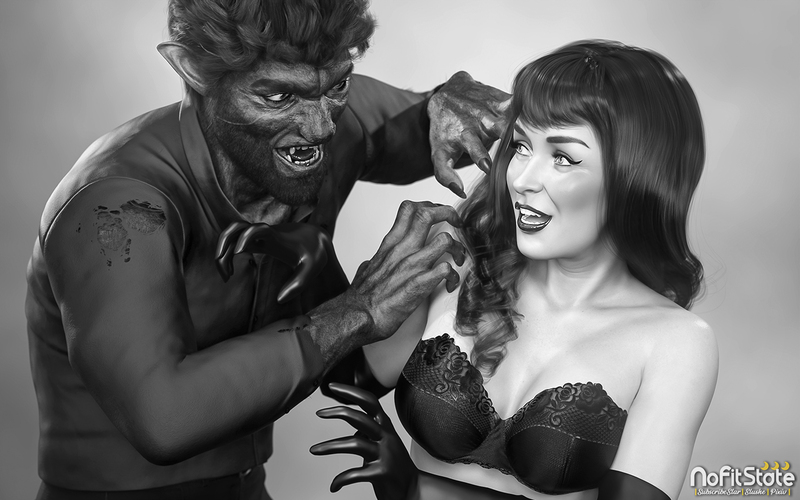 Bettie Page Meets the Wolfman 1