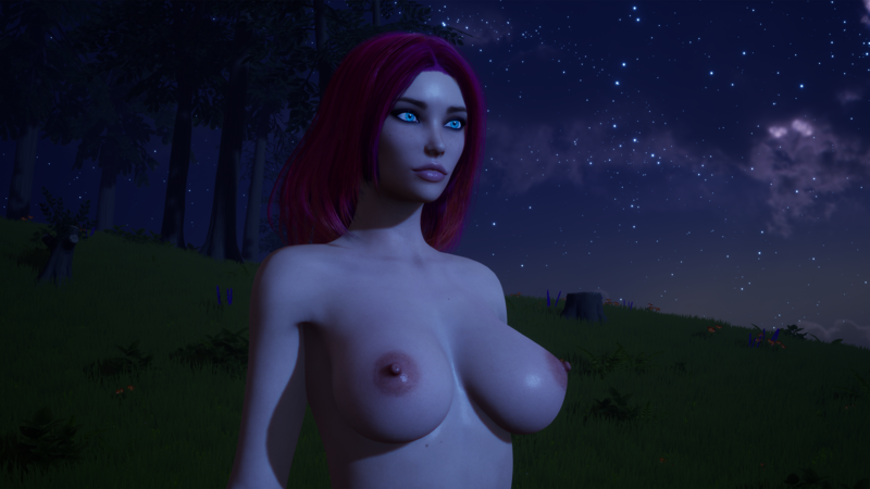 The Lustland Adventure game - Lady at night