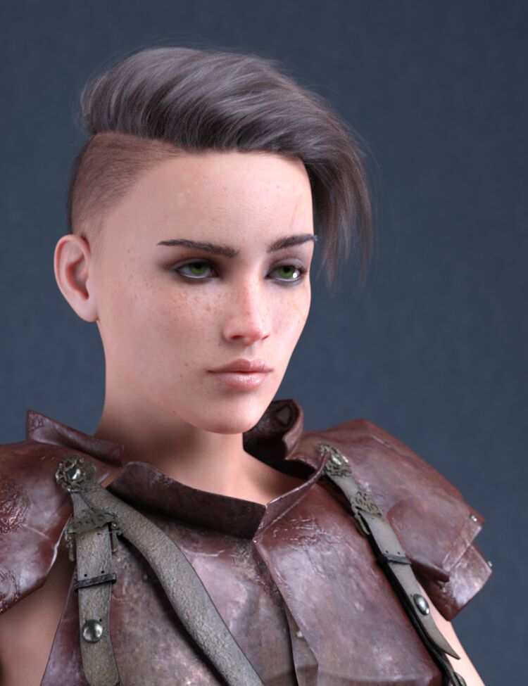 Athayna Portrait tests - Tomboy Soldier