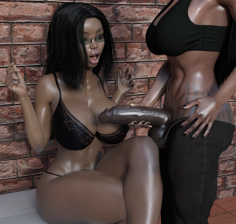 Demon vs Ebony Slut