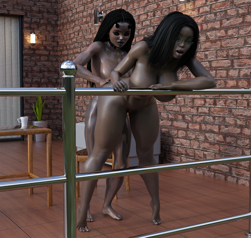 Demon vs Ebony Slut