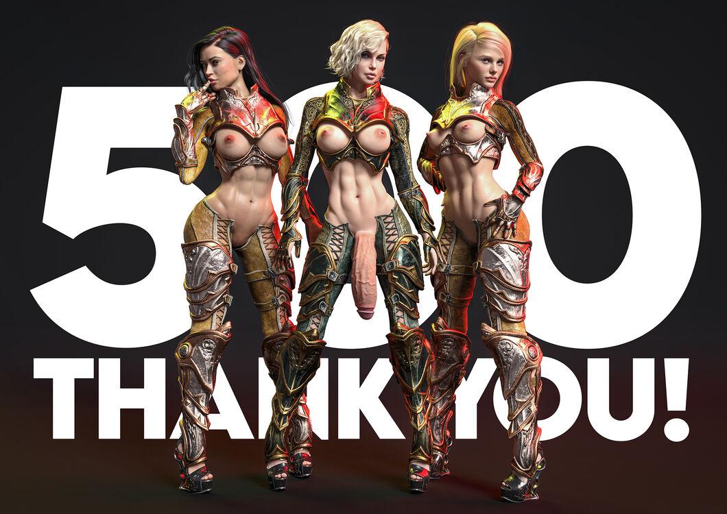 500 Followers! Thank You!!!!
