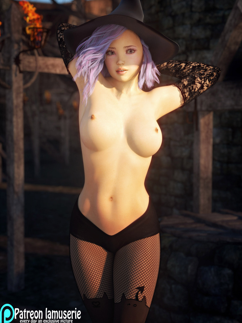 Topless Hot Witch 32