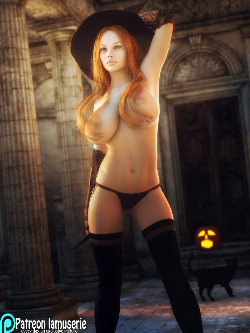 Topless Hot Witch 38