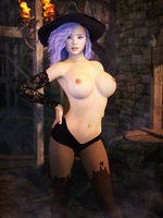 Topless Witch 39