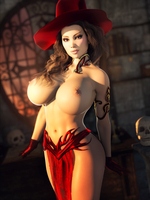 Topless Witch 55