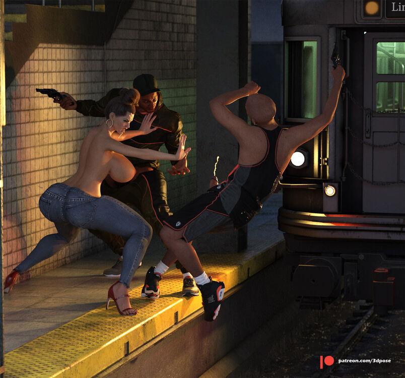 Two thiefs scap scene
