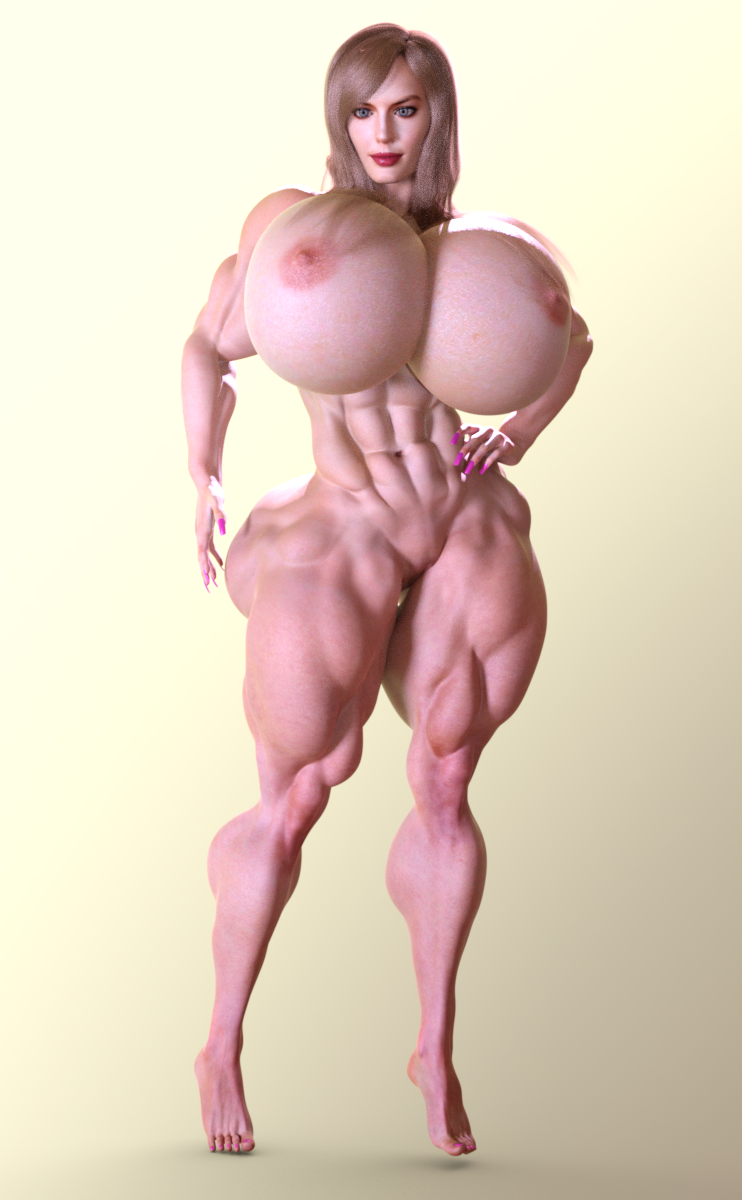 Muscular Margot Robbie Variety Test Renders