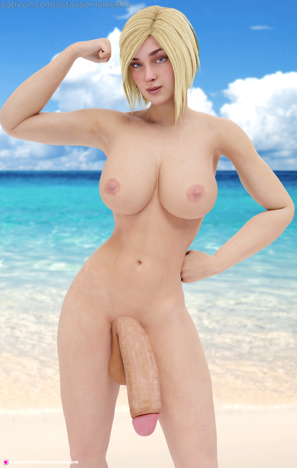 Power Girl at the beach