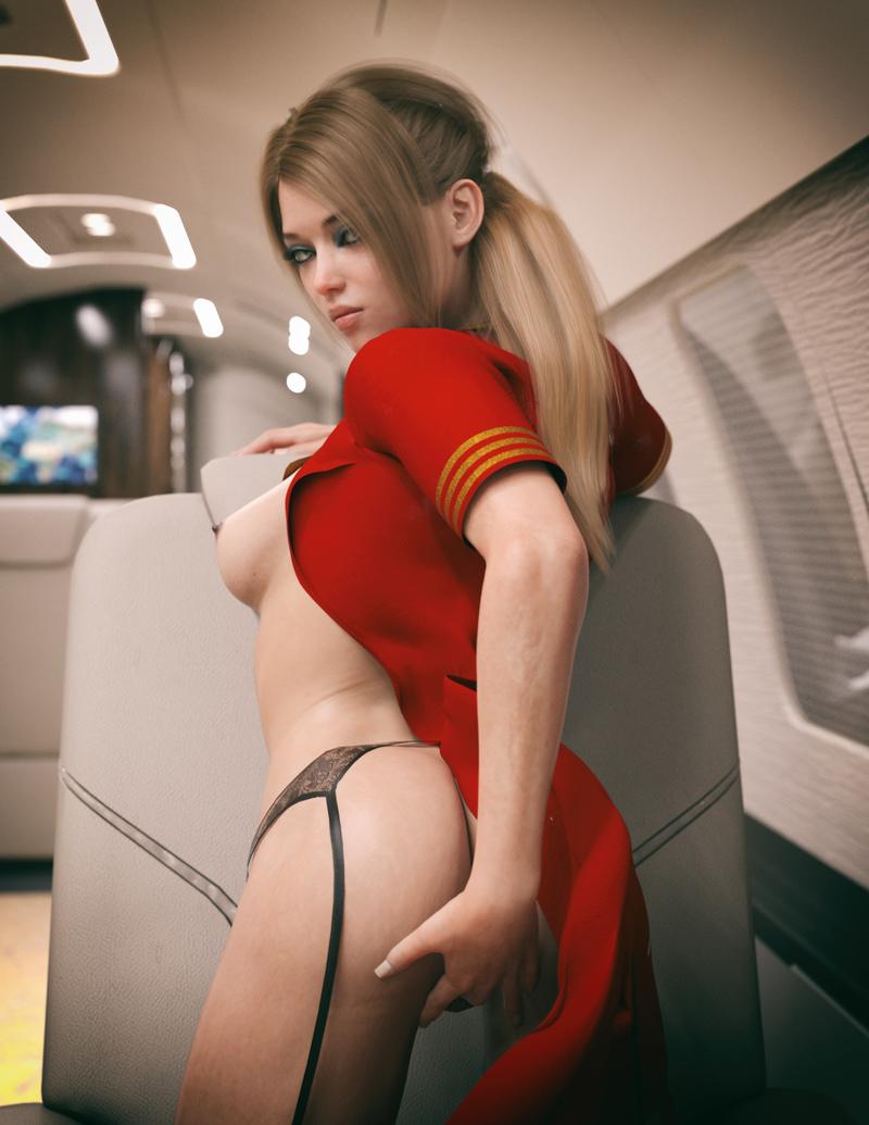 Sexy Stewardess 002