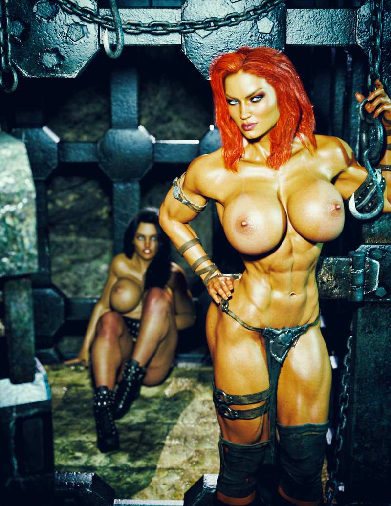Joyce - Red Sonja Cosplay - Caged -