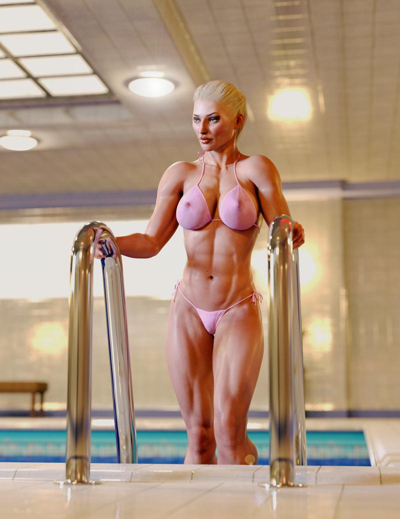 Estelle - Pink Bikini