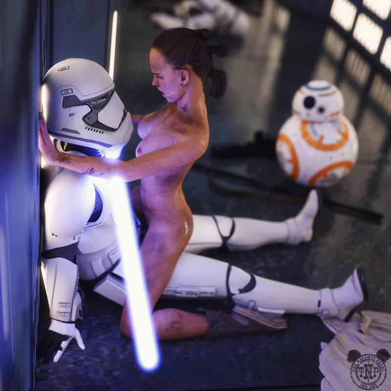 Rey Skywalker vs Stormtrooper