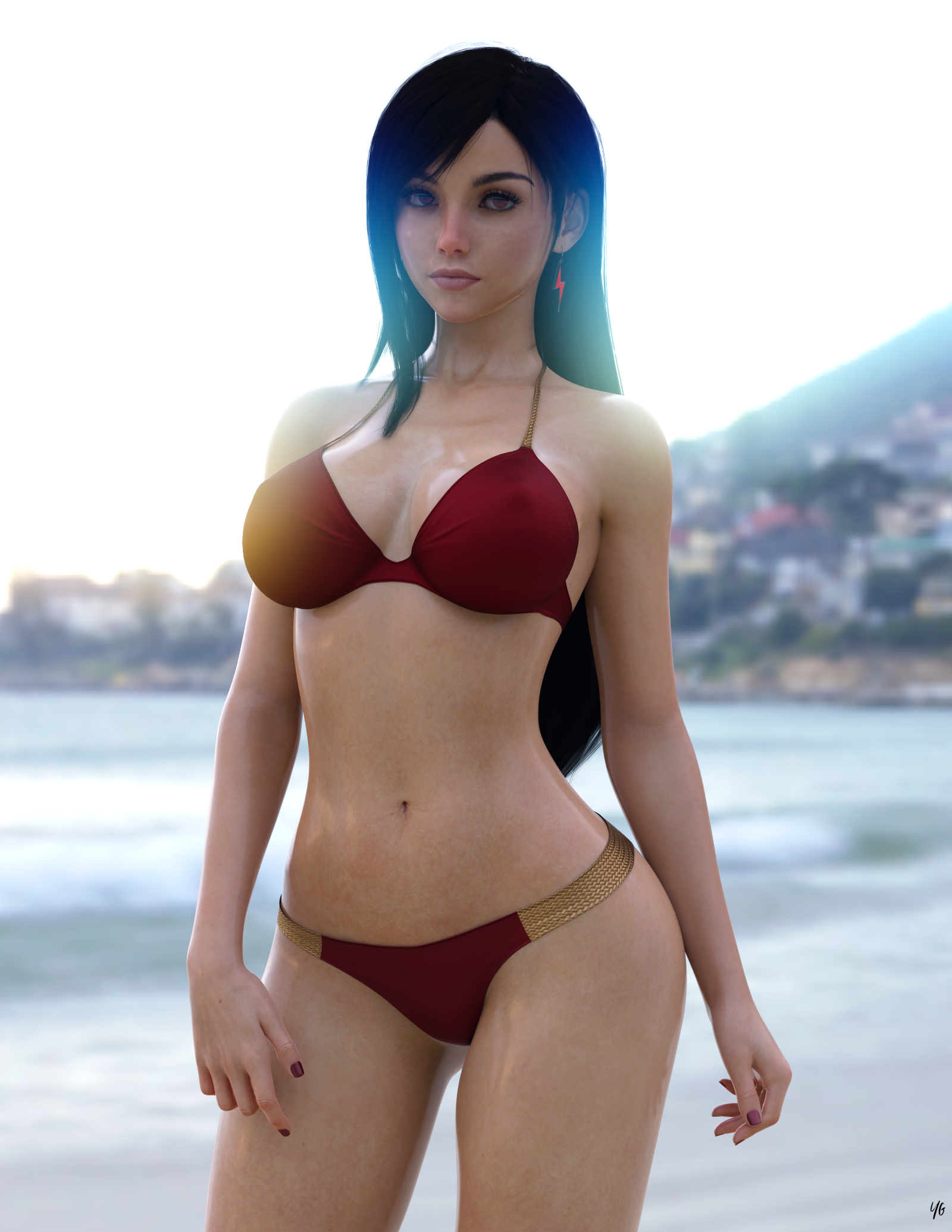 Tifa on beach