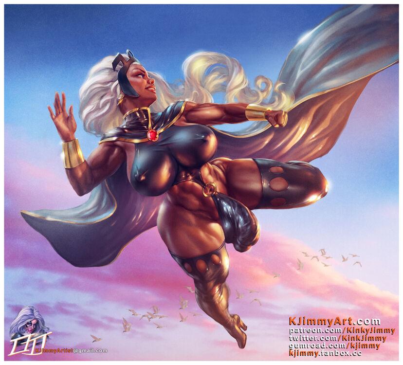 X-Men Storm futa pinup