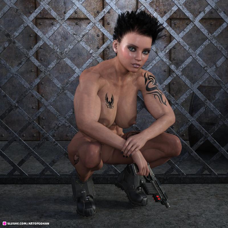 Halo Spartan Female WIP