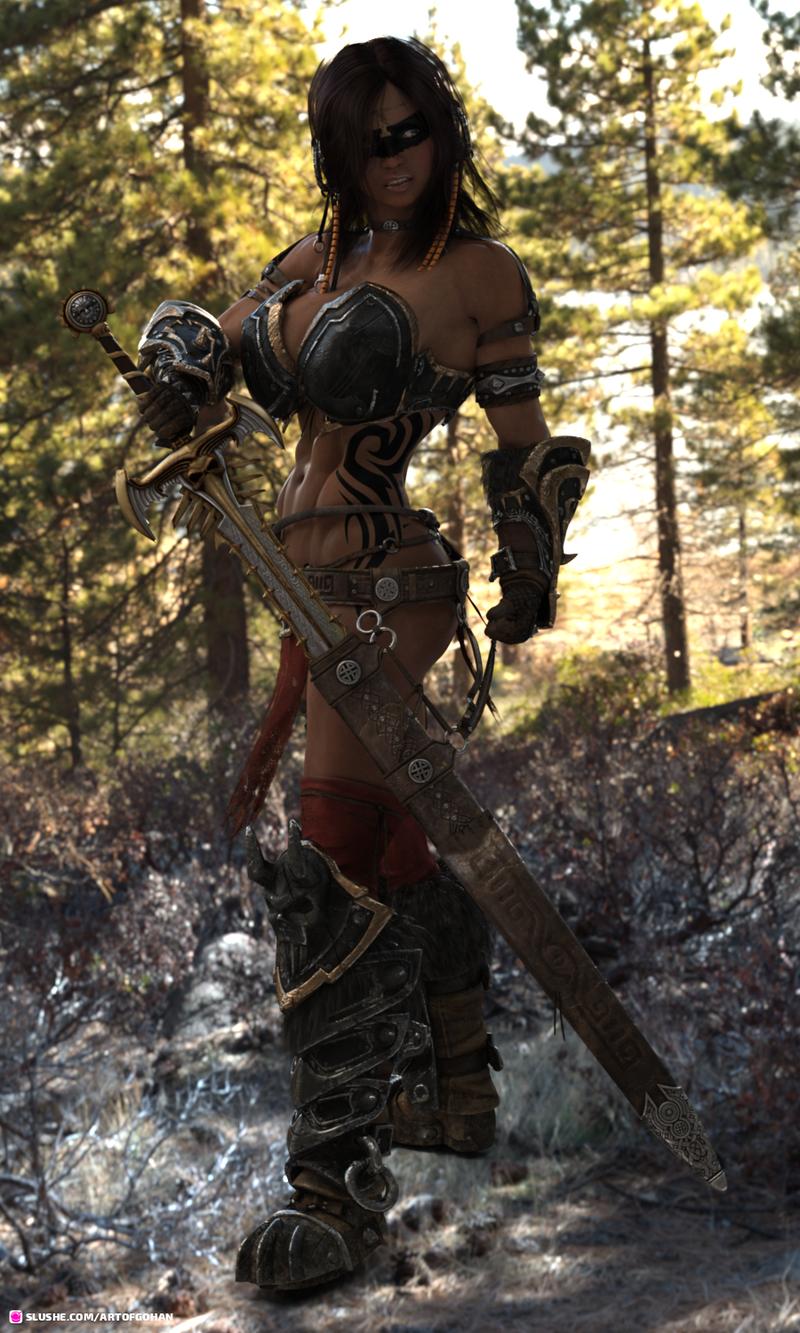 Cimmerian Barbarian OC Gwendolen