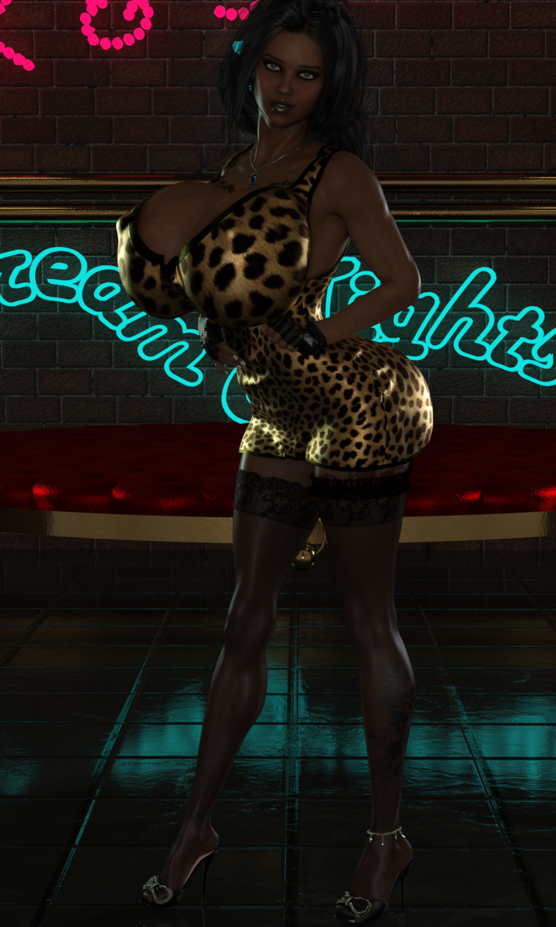 Teaser of Alexandra in Leopard on Subscribestar