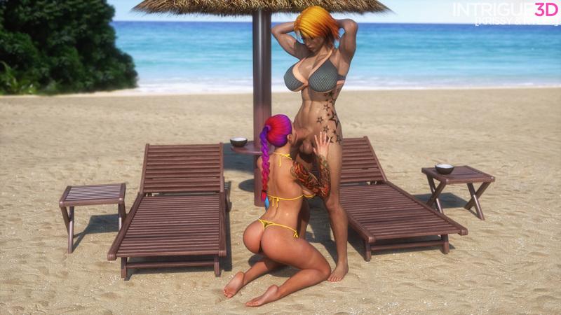 Krissy & Rylee's Beach Fun