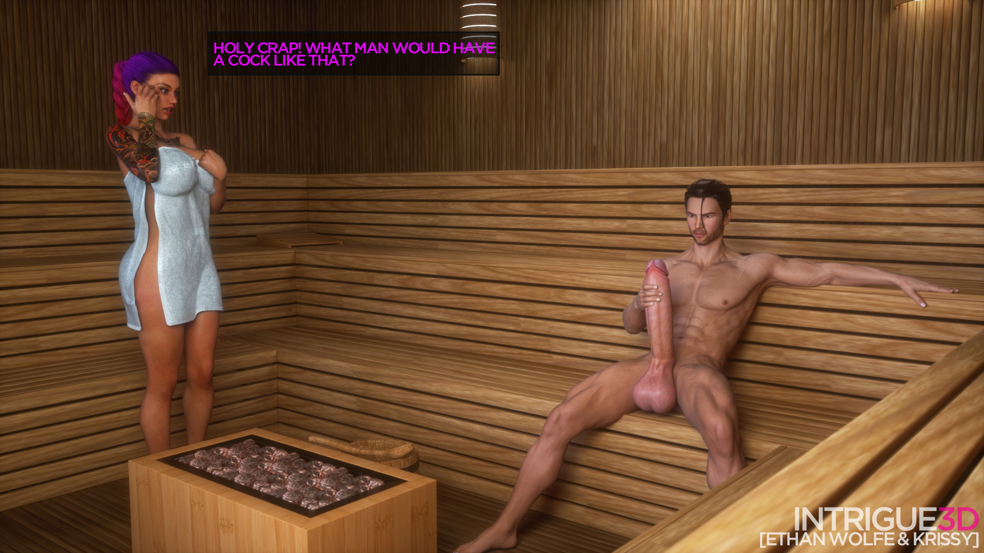 Krissy & Ethan At The Sauna