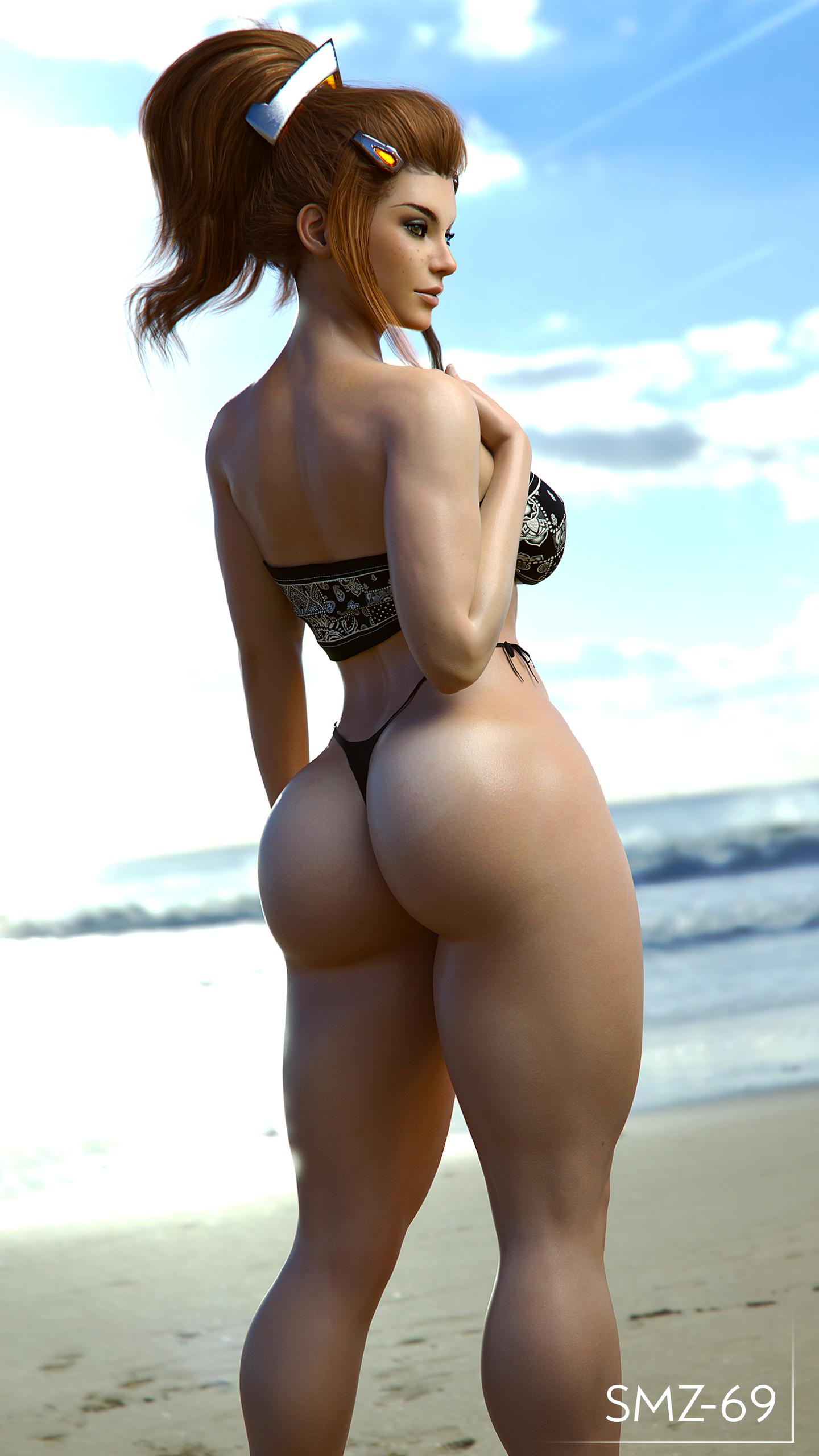 Brigitte at the beach