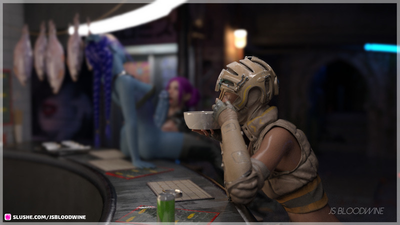 Cyberpunk Futa Diner
