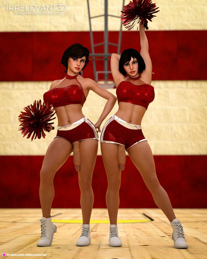 A couple of cheerleaders