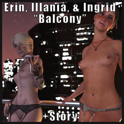 Erin, Illania, & Ingrid - Balcony