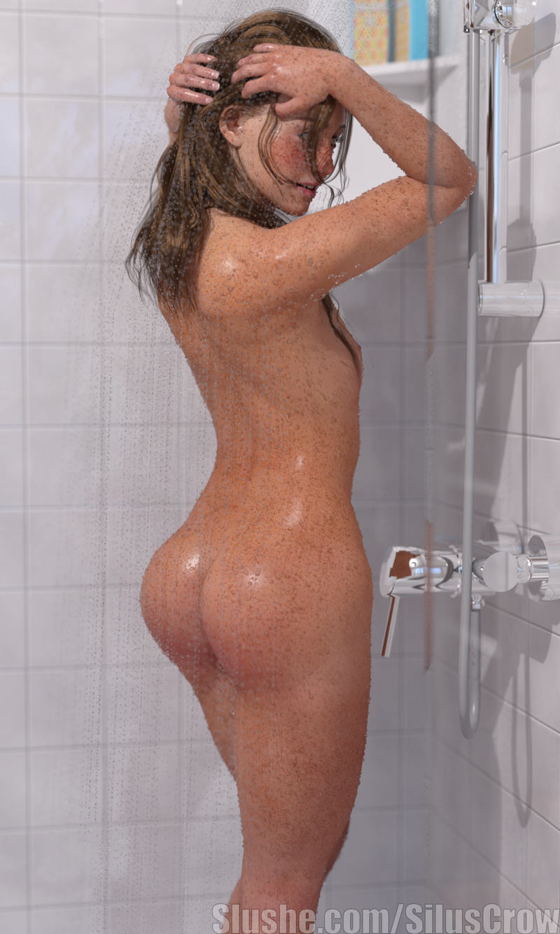 Illania - Shower Pinup