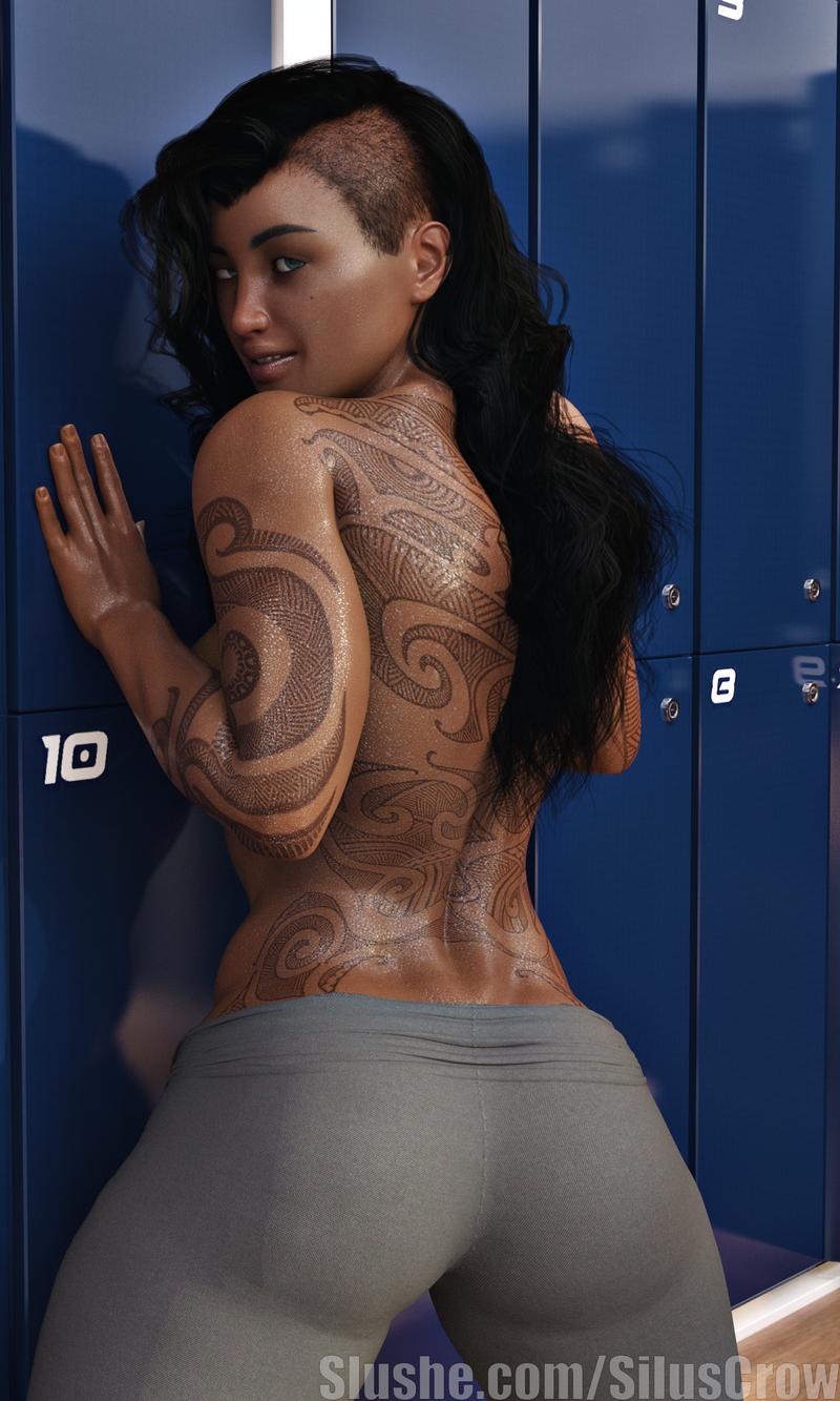 Makayla - Locker Room Pin-up